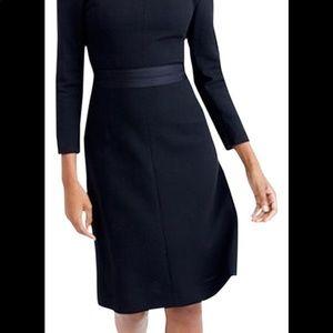J. Crew Dresses - J. Crew Double-faced Wool Crepe Dress Black 2